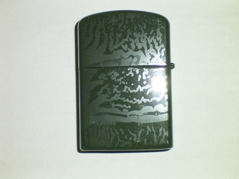Accendino green enamel finish Zippo lighter