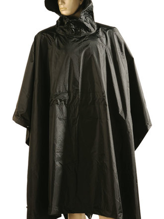 Poncho in nylon nero