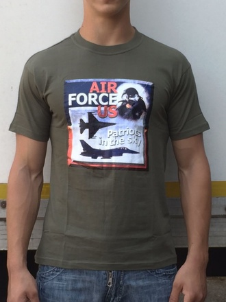 T-shirt Air Force US verde