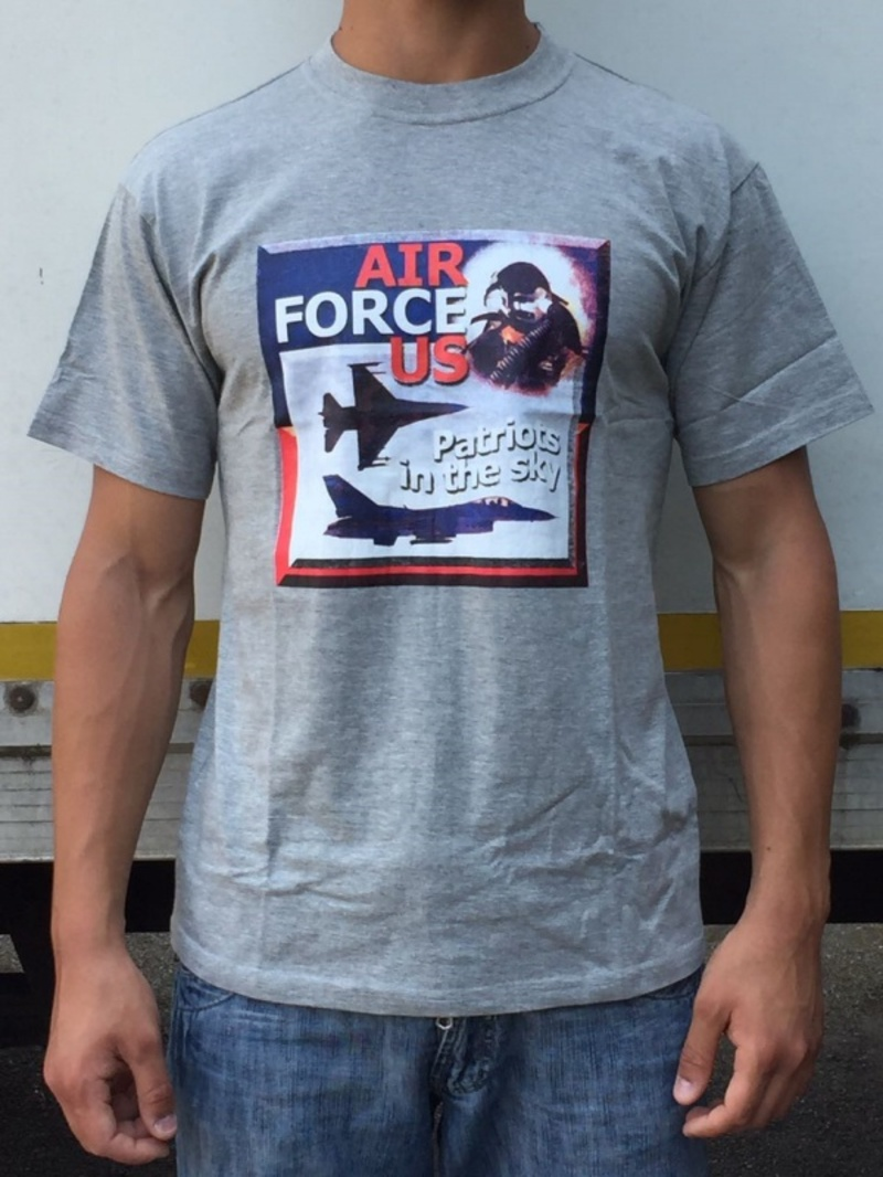 T-shirt Air Force US grigia