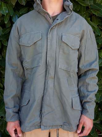 M65 FIELD JACKET VERDE STONE WASHED