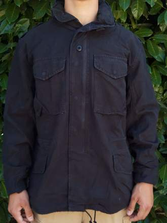 M65 FIELD JACKET NERO STONE WASHED