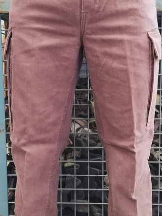 PANTALONI MOLESKIN STONE WASHED MARRONI