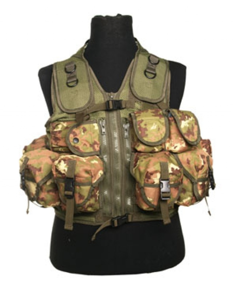 Tactical vest mimetico vegetato 9 tasche