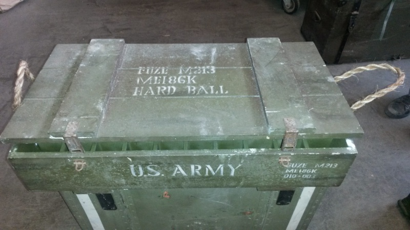 Cassa porta granate US Army